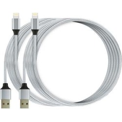 Lisensy Tech USB Cables Silver - Silver Lightning Cable - Set of Two found on Bargain Bro from zulily.com for USD $9.87
