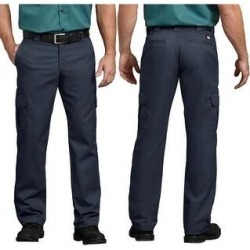 Dickies Men's Flex Regular Fit Straight Leg Work Cargo Pants (Dark Navy - 36X32), Blue(cotton) found on Bargain Bro Philippines from Overstock for $32.88