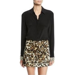 Alexis Womens Ottavia Button Down Blouse, Black, Small (Black - S), Women's(silk, solid) found on MODAPINS from Overstock for USD $277.19