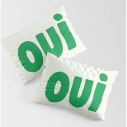 Oui King Size Pillow Sham by Socoart - STANDARD SET OF 2 - Cotton