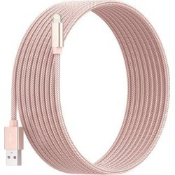 Posh Tech Lightning Cables Rose - 6' Rose Goldtone Braided Lightening Cable found on Bargain Bro India from zulily.com for $9.99