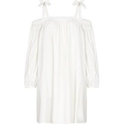 Cold-shoulder Mini Dress - White - Boutique Moschino Dresses found on Bargain Bro Philippines from lyst.com for $308.00