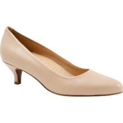 Women's Kiera Pumps by Trotters in Nude Leather (Size 9 M) found on Bargain Bro Philippines from Roamans.com for $99.99