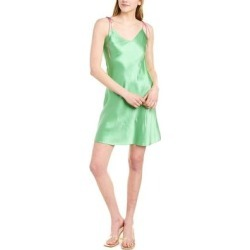 Dannijo Ruched Silk Mini Slip Dress (XS), Women's, Green found on MODAPINS from Overstock for USD $110.00