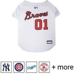 Pets First MLB Dog & Cat Jersey, Atlanta Braves, XX-Large found on Bargain Bro India from Chewy.com for $14.49