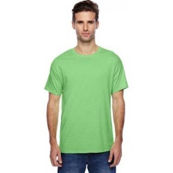 Hanes P4200 4.5 oz. X-Temp Performance T-Shirt in Neon Lime Heather size 2XL | Cotton/Polyester Blend 4200 found on Bargain Bro from ShirtSpace for USD $5.56