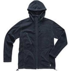 Stedman Mens Active Hooded Fleece Jacket (Blue Midnight - XL), Men's, Blue Black found on MODAPINS from Overstock for USD $50.13