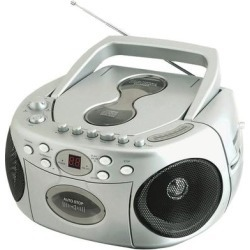 Sylvania Srcd286-Silver Portable Cd Radio Boom Box found on Bargain Bro Philippines from Overstock for $81.00