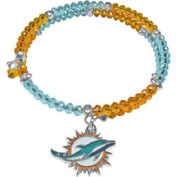 Women's Miami Dolphins 400 Degrees Crystal Bracelet found on Bargain Bro from nflshop.com for USD $22.79