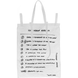 Logo Printed Shopper - White - MM6 by Maison Martin Margiela Totes found on Bargain Bro from lyst.com for USD $304.00