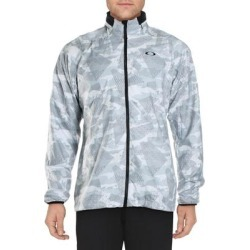 Oakley Mens Enhance Graphic Track Jacket Printed Fitness found on Bargain Bro from Overstock for USD $38.03