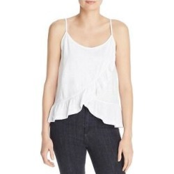 Goldie Womens Tank Top Sheer Cropped - White - M (White - M), Women's(cotton) found on MODAPINS from Overstock for USD $29.39