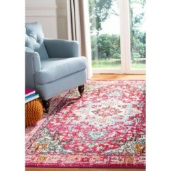 Safavieh Fuchsia/Light Blue Monaco Transitional Boho Area Rug Collection found on Bargain Bro Philippines from belk for $210.00