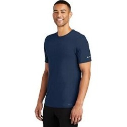 Nike Men's DRI-FIT Poly/Cotton Tee (M - College Navy), Blue found on Bargain Bro India from Overstock for $28.97