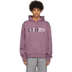 Purple Oversized Logo Hoodie - Purple - KENZO Sweats