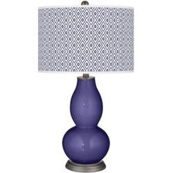 Valiant Violet Diamonds Double Gourd Table Lamp found on Bargain Bro Philippines from LAMPS PLUS for $149.99