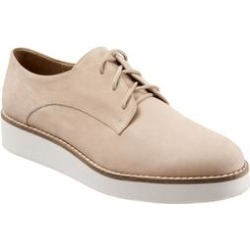 Wide Width Women's Willis Oxfords by SoftWalk in Sand Nubuck (Size 7 1/2 W) found on Bargain Bro Philippines from Woman Within for $114.99