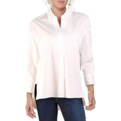 French Connection Womens Aoko Rhodes Top Popover Hi-Low (Linen White - M), Women's found on MODAPINS from Overstock for USD $18.54
