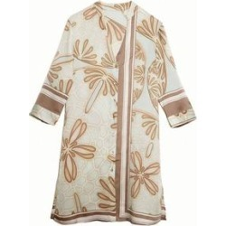 Silk Shirt Dress - Natural - Pink House Mustique Dresses found on Bargain Bro from lyst.com for USD $420.28