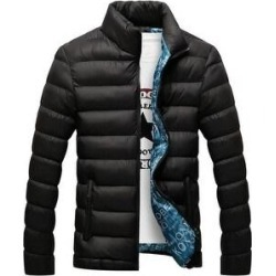 Man Down Coat Slim Warm Cotton Coat Black M (L), Men's found on MODAPINS from Overstock for USD $48.11