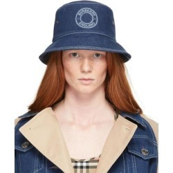 Blue Denim Circle Logo Bucket Hat - Blue - Burberry Hats found on Bargain Bro from lyst.com for USD $349.60