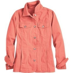 Haband Womens Iconic Denim Jean Jacket, Peach, Size Misses, XL found on Bargain Bro Philippines from Haband for $35.99