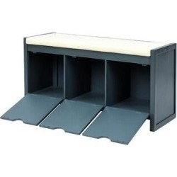 Storage Bench with Removale Cushion for Living Room (Blue)