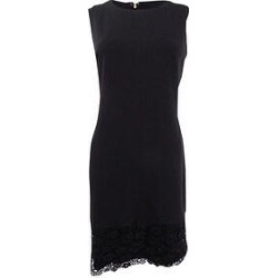 DKNY Women's Lace-Hem Sheath Dress - Black (8) found on Bargain Bro India from Overstock for $44.99