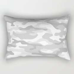 "Snow Camo Rectangular Pillow by More By Jamie Preston - Small (17"" x 12"")"