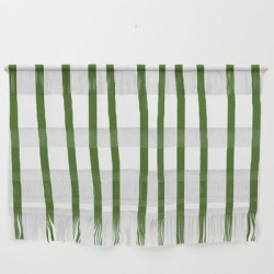 Wall Hanging | Simply Drawn Vertical Stripes In Jungle Green by Simple Luxe - Large 47