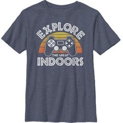 Fifth Sun Boys' Tee Shirts NAVY - Navy Heather 'Explore the Great Indoors' Tee - Boys found on Bargain Bro India from zulily.com for $9.99