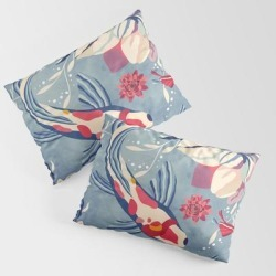 Pillow Sham | Water Dance by Vessdsign - STANDARD SET OF 2 - Cotton - Society6 found on Bargain Bro from Society6 for USD $30.39