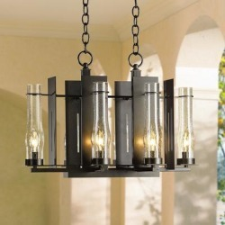 Hubbardton Forge New Town 6-Light Indoor-Outdoor Chandelier found on Bargain Bro India from LAMPS PLUS for $1940.00