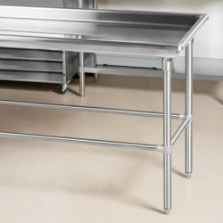 """Advance Tabco SR-60 30"""" x 60"""" Stainless Steel Sorting Table"""