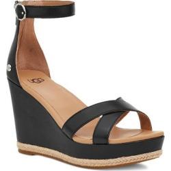 UGG Ezrah Espadrille Wedge Sandal - Black - Ugg Heels found on Bargain Bro from lyst.com for USD $98.80