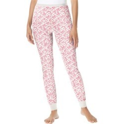 Plus Size Women's Thermal Lounge Pant by Comfort Choice in Vanilla White Heart (Size 1X) found on Bargain Bro Philippines from Ellos for $14.99
