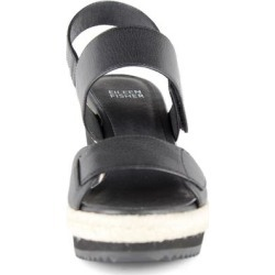 Maxi Leather Wedge Sandal - Black - Eileen Fisher Heels found on Bargain Bro Philippines from lyst.com for $80.00