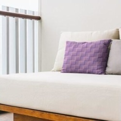 Rockport Color Contrast Basketweave Outdoor Lumbar Pillow by Havenside Home (Purple & Pink - N/A), Multicolor(Synthetic Fiber, Stripe) found on Bargain Bro Philippines from Overstock for $49.99
