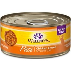 Wellness Complete Health Pate Chicken Entree Grain-Free Canned Cat Food, 5.5-oz, case of 24