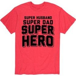 Instant Message Mens Men's Tee Shirts HEATHER - Heather Red 'Super Hero Dad' Tee - Men