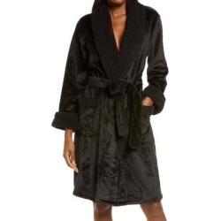 Plush Faux Fur Robe - Black - Natori Nightwear found on Bargain Bro India from lyst.com for $98.00