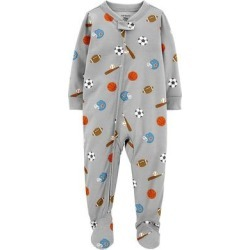 Baby Boy Carter's Sports Zip Footed Pajamas, Infant Boy's, Size: 12 Months found on Bargain Bro from Kohl's for USD $15.20