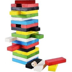 Vektor Toy Block Sets Mixed - Mixed Color Wooden Block Stacking Game found on Bargain Bro from zulily.com for USD $11.39