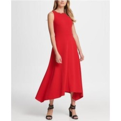 DKNY Red Sleeveless Knee Length Dress 12 (Red - 12), Women's(knit, check) found on Bargain Bro from Overstock for USD $28.15