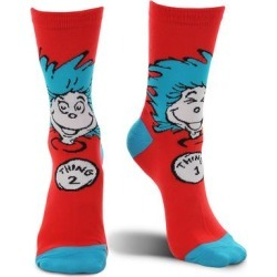 elope Socks - Thing 1 & Thing 2 Costume Crew Socks - Adult