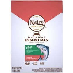 Nutro Natural Choice Wholesome Essentials Adult Salmon & Whole Brown Rice Formula Dry Cat Food, 14lb