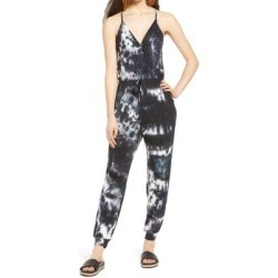 Tie Dye Cami Jumpsuit - Black - Fraiche By J Jumpsuits found on Bargain Bro India from lyst.com for $98.00