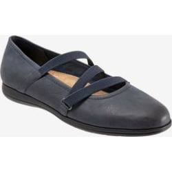 Women's Della Flat by Trotters in Navy (Size 9 1/2 M) found on Bargain Bro India from Woman Within for $109.99