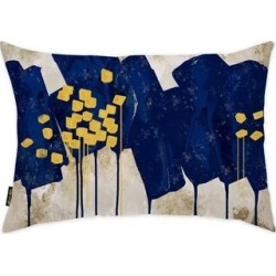 Oliver Gal 'Sapphire Movement'DecorativeThrow Pillow, Blue, Oliver Gal Artist Co.(Microfiber, Abstract) found on Bargain Bro from Overstock for USD $36.24