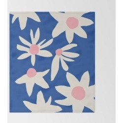 Bed Throw Blanket | Blue Garden by Grace - 51